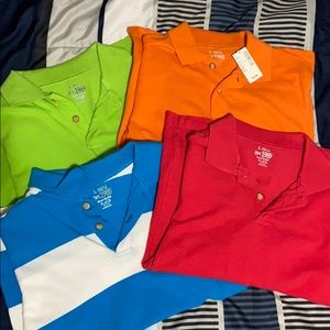 Set of 4 boys short sleeve polos